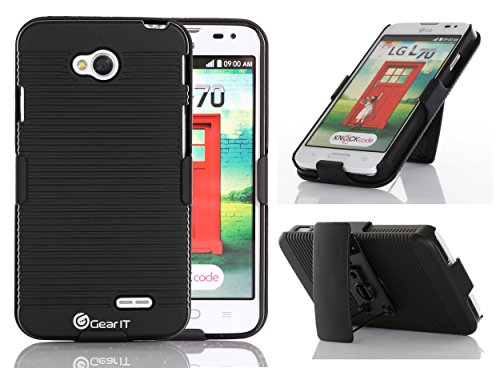 GearIt LG G3 Optimus Case - Ultra Slim Shell Case Cover with Holster Kickstand (AT&T, Sprint, T-Mobile & Verizon Wireless) - Black