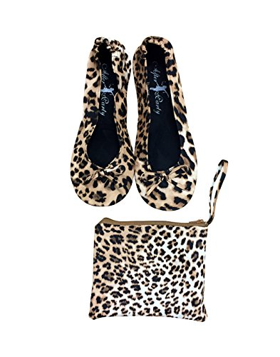 Mesdames Chaussures à rouleau pliable Pompes pliable en plusieurs couleurs Noir Rose Nude Beige/Or Argent Rouge Gris foncé imprimé léopard ZCa3iu