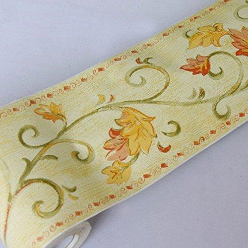 SimpleLife4U Leaf Vine Wallpaper Border Roll Self-adhesive