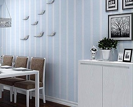 Papel Pintado De Rayas Verticales Color Solido Tela No Tejida - Pintar-paredes-a-rayas-verticales