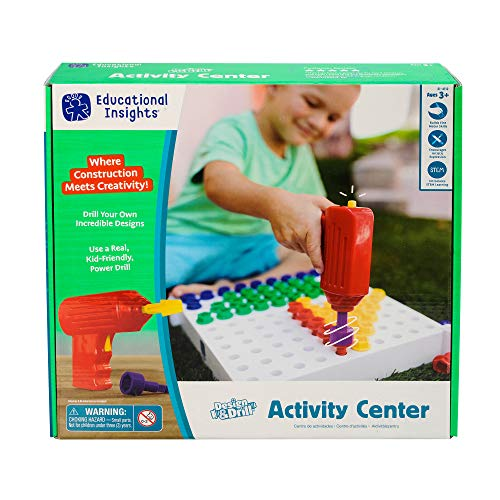 Educational Insights Design & Drill Activity Center: 146Piece—Build & Learn, Fine Motor Skills & STEM Learning