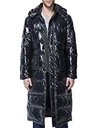 Men's Packaged Down Puffer Jacket with Hooded Compressible Long Coat