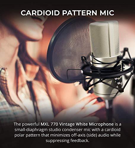 MXL Condenser Microphone, XLR, Vintage White (770VINTAGEWHITE)