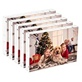 NIUBEE 5 Pack Acrylic Picture Frames 4x6