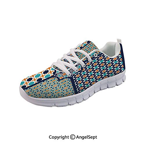 Athletic Running Shoes Asian Ornate Mosaic Patterns Heritage Lightweight Sneake