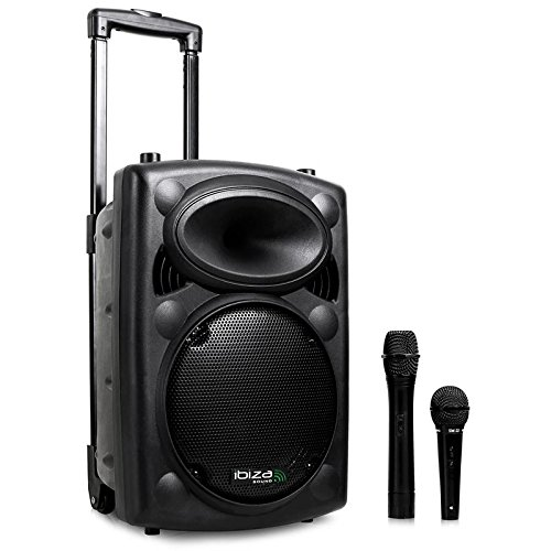 Ibiza Port8VHF-BT Sono PA portable bluetooth + pied de micro