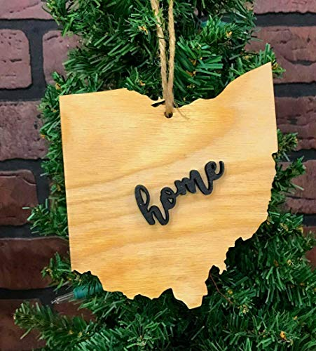 Ohio StateOrnament Keepsake Decoration Holiday Gift Home Ornie Party Favor (Ohio Ornament Holiday State)