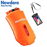 Newdora Dry Bag - Open Water Swim Buoy Flotation Device With Dry Bag for Swimmers, Triathletes, and Snorkelers. Floats for Safer Swims