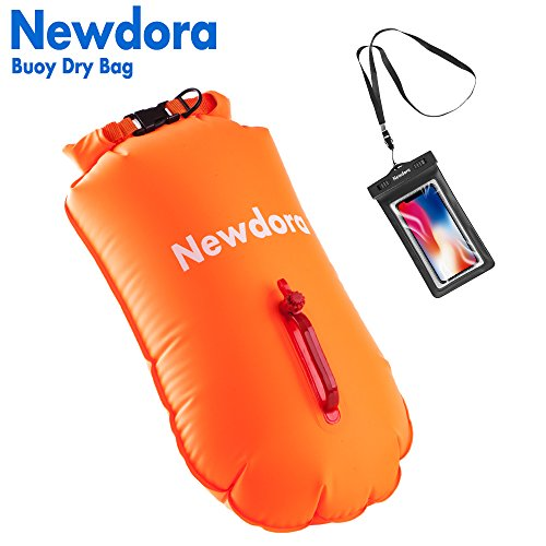 Newdora Dry Bag - Open Water Swim Buoy Flotation Device With Dry Bag for Swimmers, Triathletes, and Snorkelers. Floats for Safer Swims by Newdora