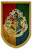 Harry Potter Style Banner - Hogwarts Flag 37x24 in - Printed on Both Sides - Durable Enough for Outside Conditions - Perfect Barware Man Cave Gift - Unique HP Collectible Accessories
