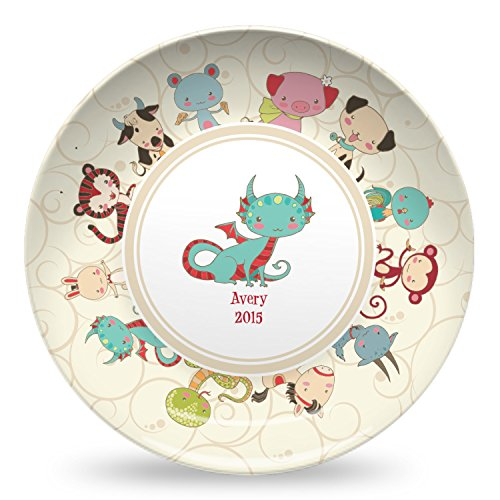Chinese Zodiac Microwave Safe Plastic Plate - Composite Polymer ()