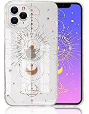 Ownest Compatible with iPhone 11 Pro Max Case with Rose Gold Heart Pattern for Women Girls Glitter Clear Soft Flexible Durable Slim TPU Cases for iPhone 11 Pro Max