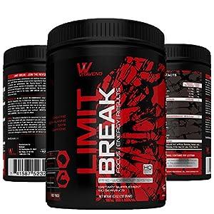 VitaVend Limit Break Pre Workout Supplement Powder - Enhances Mental Physical Focus, Endurance Energy, Fitness Workout Health, Muscle Gain, Results - #1 Choice of Bodybuilders & Athletes 60 Servings