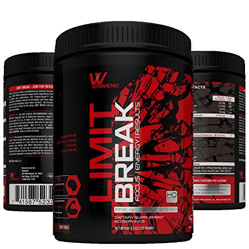 Limit Break VitaVend Pre Workout Supplement Powder, 60 Servings