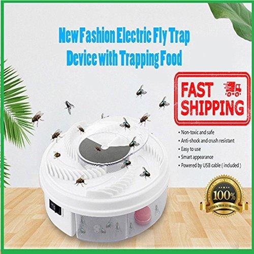 VICTOREM USB Elektrische Fliegenfallen-gerät Trapping Fliegenfallen Gerät Autumatisches Electric Catch Fly Umweltschutz Weiß