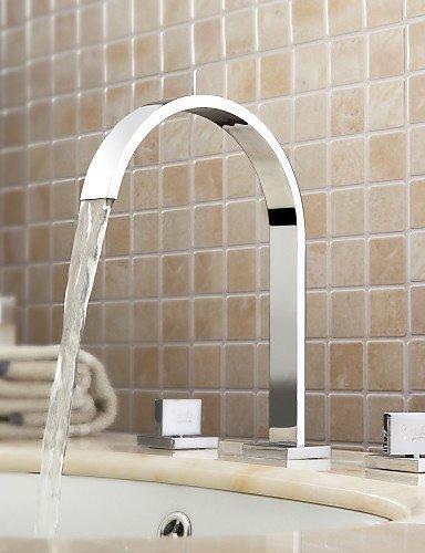 die Weiß verbreitete Zeitgenössische Chrom Waschbecken Wasserhahn
