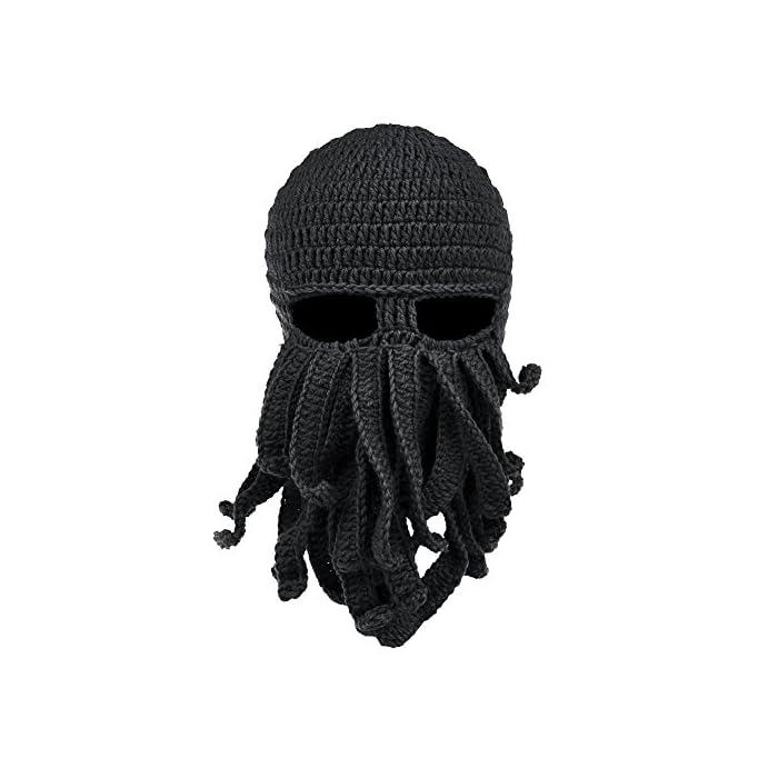 219fbfe5b62db Home MEN Accessories Octopus Beard Hat Beanie -Windproof.   