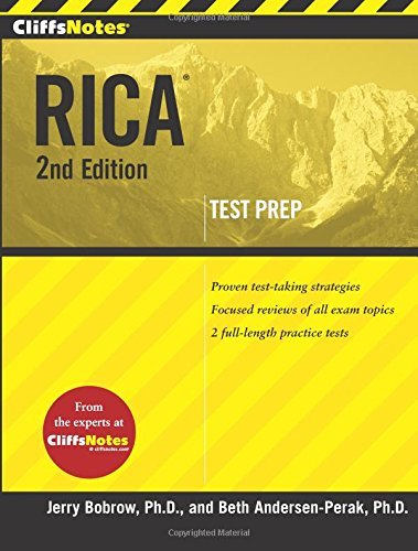 Pdf Test Preparation CliffsNotes Rica 2nd Edition (CliffsNotes (Paperback))