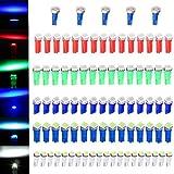 97 dodge ram 1500 dash parts - CCIYU 80 Pack T5 58 70 73 74 Dashboard Gauge 5050SMD LED Wedge Lamp Bulb Light 5 Colors + 5 Pack Blue High Power T5 37 70 73 74 Instrument Panel Cluster Dash LED Bulbs Light Lamp