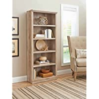 5-Shelf Crossmill Bookcase in Weathered