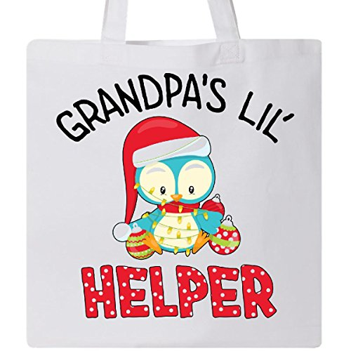 inktastic-grandpas-lil-helper-cute-christmas-bird-tote-bag