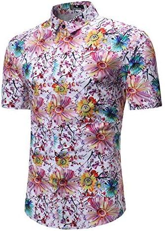 LFNANYI Colorido Estampado de Flores Camisa Hombres Verano Nueva Playa de Manga Corta Camisa Hawaiana Hombres Casual Vacation Tops s para Hombre: Amazon.es: Deportes y aire libre