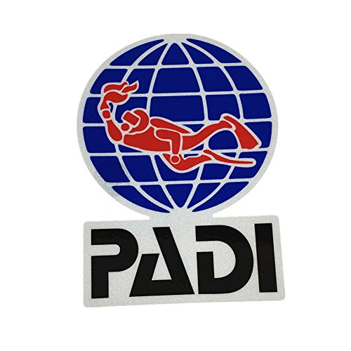DIVING Stickers Funny Water Sports Scube Dive PADI Car Sticker Fish Tank Motorcycle Vinyl Decals 3M (100mm)
