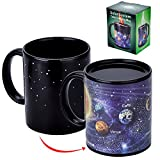 heat changing mugs - Antner Magic Coffee Mug Solar System Ceramic Heat Sensitive Color Changing Cup,12 Ounce