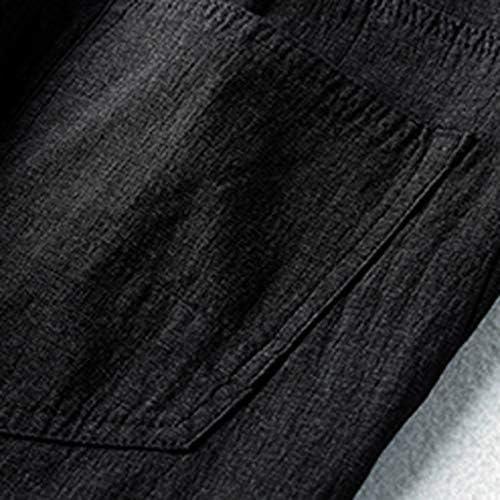 男性の新しいファッションカジュアルな屋外ポケットビーチ固体ズボンロングパンツ