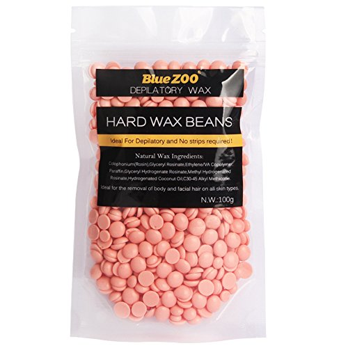 Hard Wax Beans No Strip Hair Removal Hot Film Depilatory Pearl Pellet 100g for Body Face Bikini Underarm (Rose)