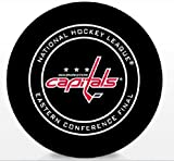 The Hockey Company 2018 CAPITALS GAME PUCK EASTERN CONFERENCE FINAL STANLEY CUP PLAYOFF WITH DISPLAY CUBEPRE-ORDER ITEM - SHIPPING BEGINS MAY 24TH