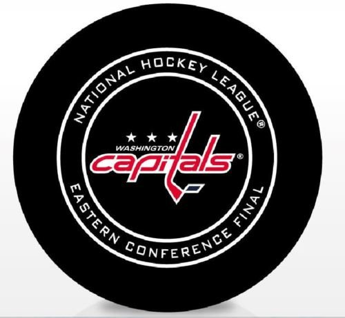 The Hockey Company 2018 CAPITALS GAME PUCK EASTERN CONFERENCE FINAL STANLEY CUP PLAYOFF WITH DISPLAY CUBEPRE-ORDER ITEM - SHIPPING BEGINS MAY 24TH by The Hockey Company
