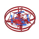 Smart Drone Quadcopter Toy RTF H64 Spiderman Full Cover 3D Rolling Quiver (Red)