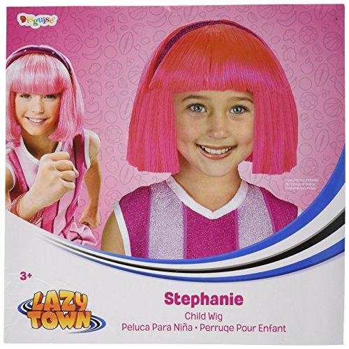 Lazy Town Stephanie Fancy Dress Costume (Disguise Lazytown Stephanie Pink Costume Wig Child)