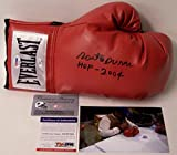 Roberto Duran Autographed Hand Signed Everlast Red Right Hand Boxing Glove - with HOF 2007 Inscription - PSA/DNA
