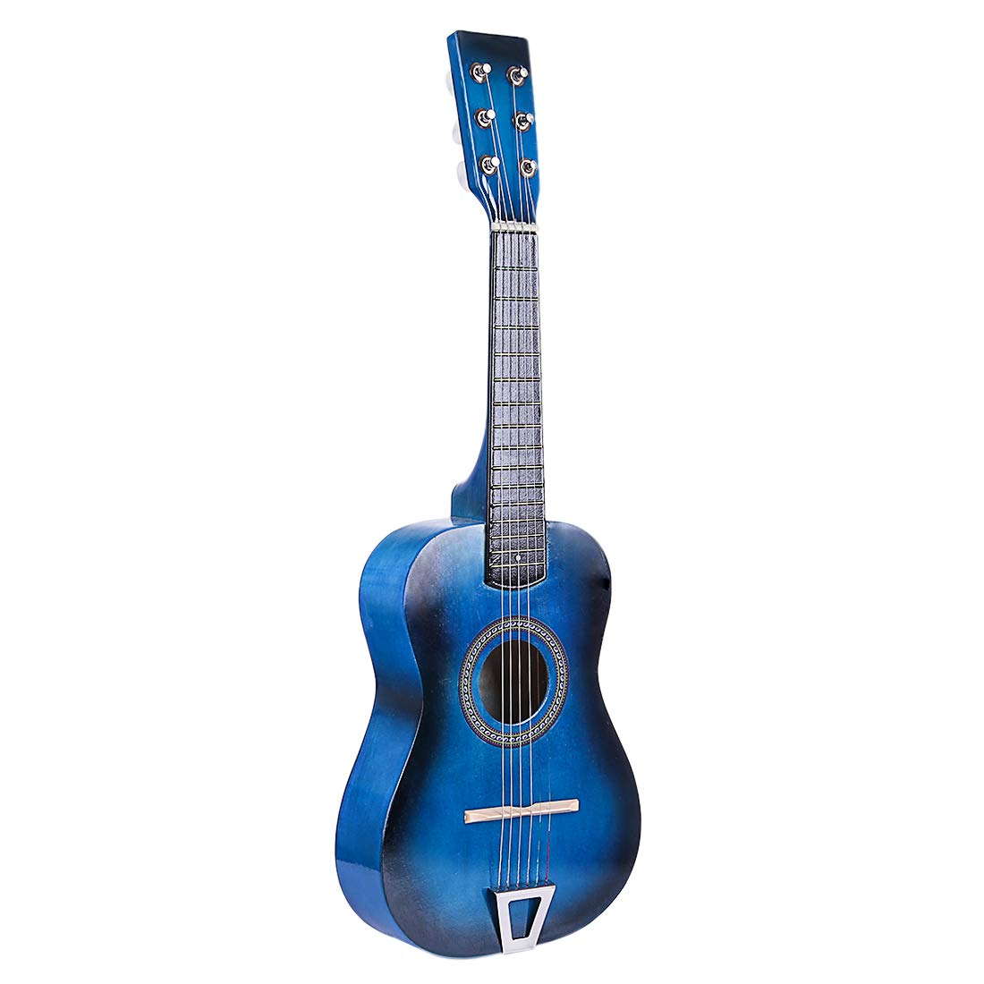 FenglinTech Kids Guitar, 23inch 6 Strings Children Wooden Acoustic Guitar Musical Instrument Toy for Children Beginner - (Blue)