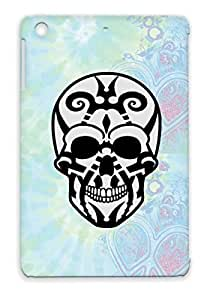 Dead Tribal Miscellaneous Skull Maori Pirate Mexican Art Design Head Gothic Tattoo Silver Cover Case For Ipad Mini