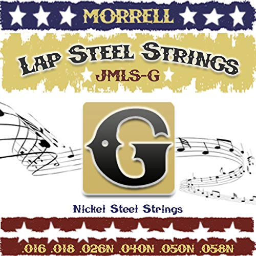 Morrell JMLSG Premium 6-String Lap Steel Guitar Strings for G Tuning 16-58 ()