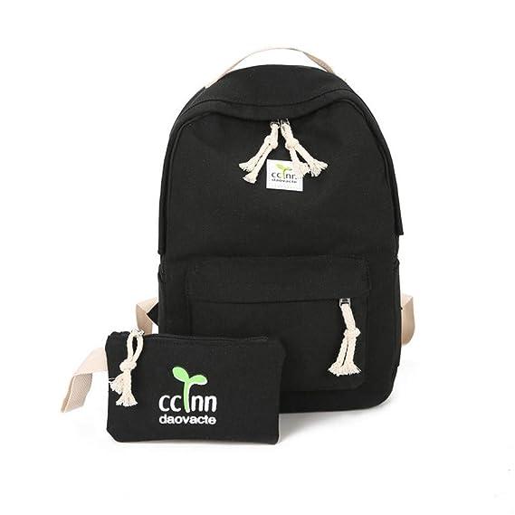 Amazon.com   Backpacks Shoulder Bag Women 2 Sets Backpack Women Preppy Style Women Backpack School Bags Teenage Female Black   Kids Backpacks