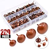 Hilitchi 280-Pieces [4-Size] Antique Red Copper Tacks Bronze Nail Pins Upholstery Tacks Furniture Thumb Tack Pins Assortment Kit - Size Include: 7/16'' 9/16'' 5/8'' 3/4''