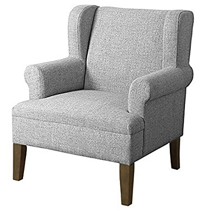 Amazon.com: Hebel Emerson Wingback Accent Chair | Model ...