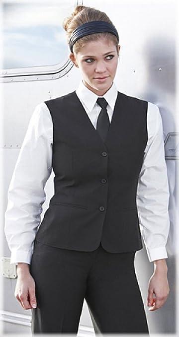 5e8d6f88bc7d GREIFF Damen-Weste Anzug-Weste SERVICE CLASSIC - Style 8220 - schwarz -  Größe  36  Amazon.de  Bekleidung