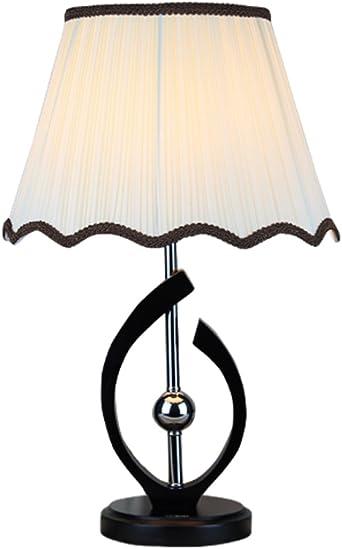 HM&DX Lámpara de mesa,Base madera sólida de la mesita escritorio ...