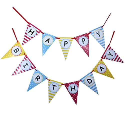 ELSKY Happy Birthday Party Banner Decorations