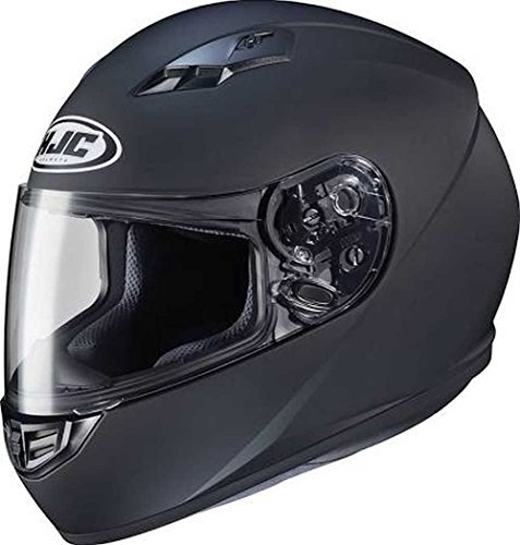 HJC Solid Adult CS-R3 Street Motorcycle Helmet - Matte Black/X-Large