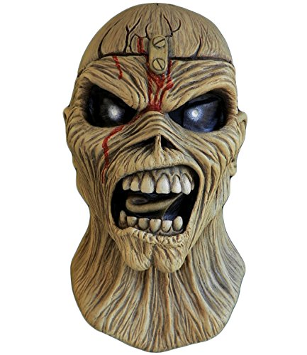 Price comparison product image Trick or Treat Studios Iron Maiden Piece Of Mind Full Head Mask,  Beige,  One-Size
