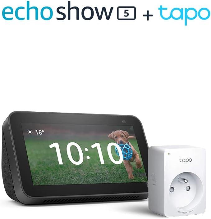 Nouvel Echo Show 5 (2e génération, modèle 2021), Anthracite + TP-Link Tapo...