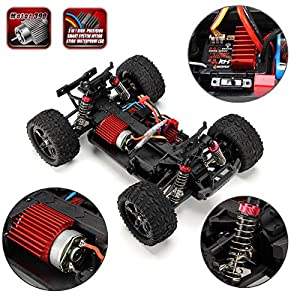 Cheerwing 1:16 2.4Ghz 4WD High Speed RC Off-Road Monster Truck Brushed Remote Control Car Red
