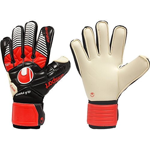 Uhlsport Player (Unisex UHLSPORT ELIMINATOR ABSOLUTGRIP 10.5 Goalkeeper Gloves Black For Soccer)