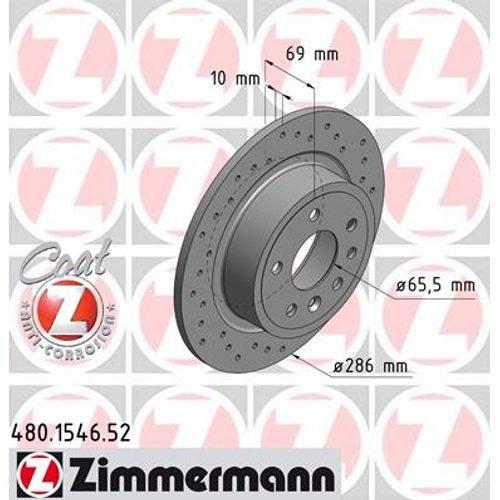2x ZIMMERMANN BREMSSCHEIBEN /Ø286 mm SET HINTEN